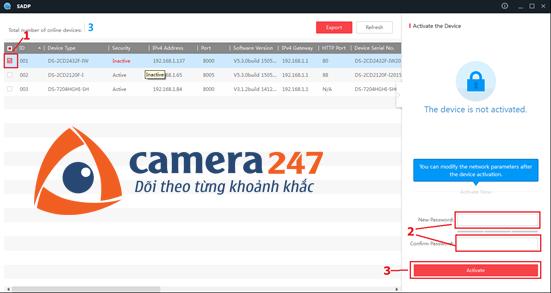 Hướng dẫn cài đặt và sử dụng camera quan sát Hikvision IP 1