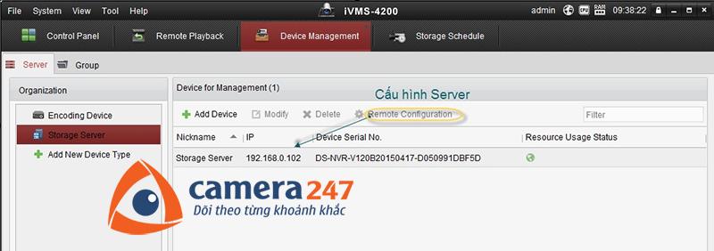 Hướng dẫn xem lại khi ghi hình trên Storage Server