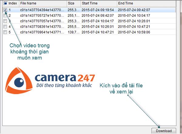 Hướng dẫn xem lại khi ghi hình trên Storage Server 2