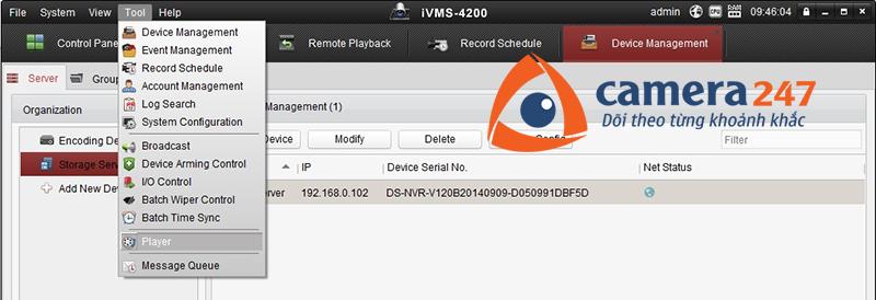 Hướng dẫn xem lại khi ghi hình trên Storage Server 5