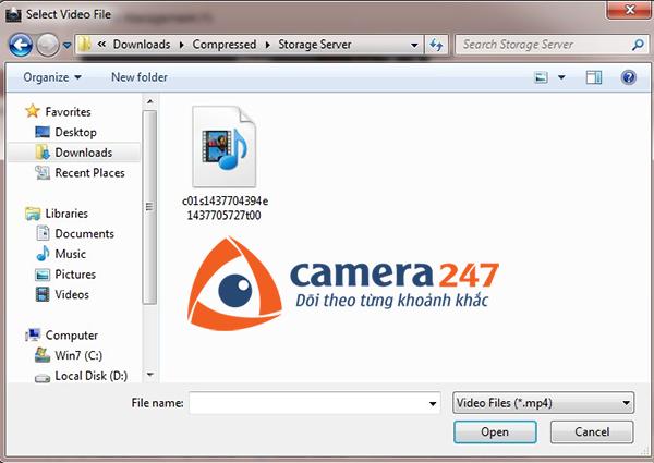 Hướng dẫn xem lại khi ghi hình trên Storage Server 7