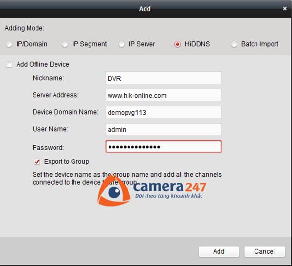 Thêm thiết bị cần lưu trữ cho việc ghi hình trên Storage Server1