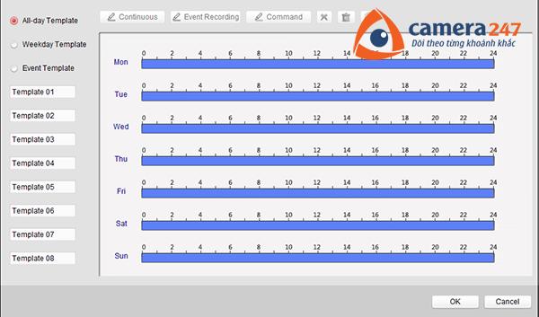 Thiết lập lịch ghi hình trên Storage Server 2