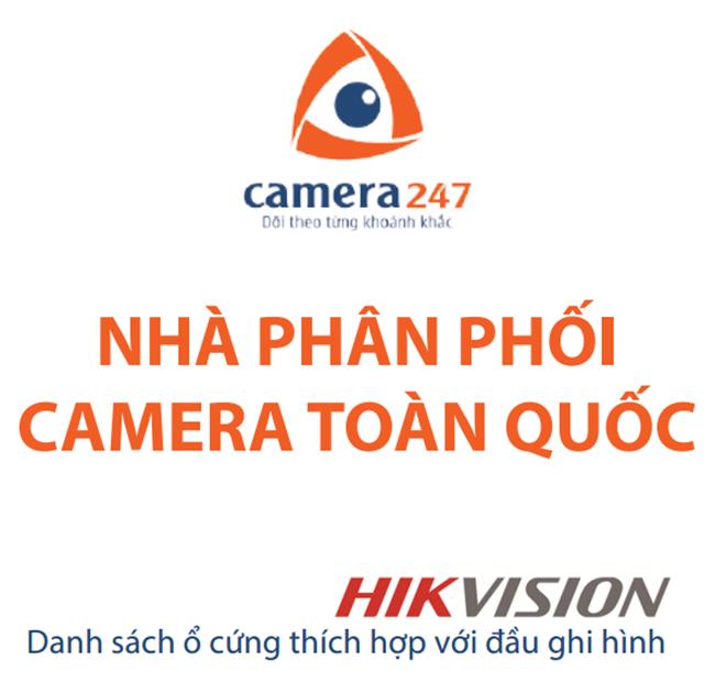 Danh sách ổ cứng tương thích với đầu ghi hình Hikvision