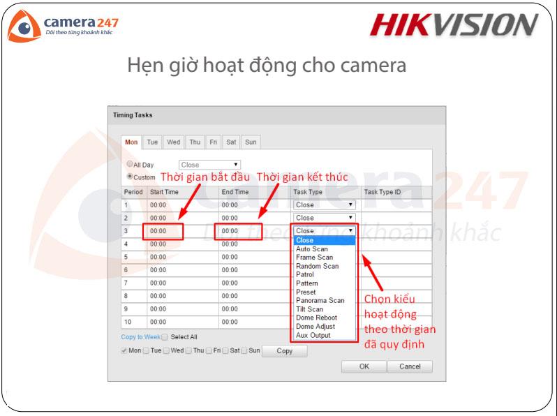Hướng dẫn sử dụng camera quay quét IP Hikvision