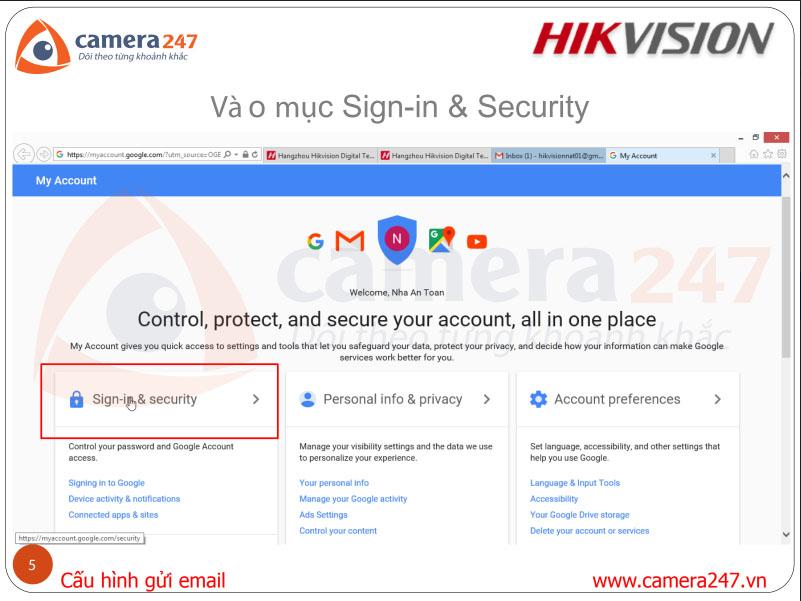 2. Khai báo thông số Gmail trên thiết bị