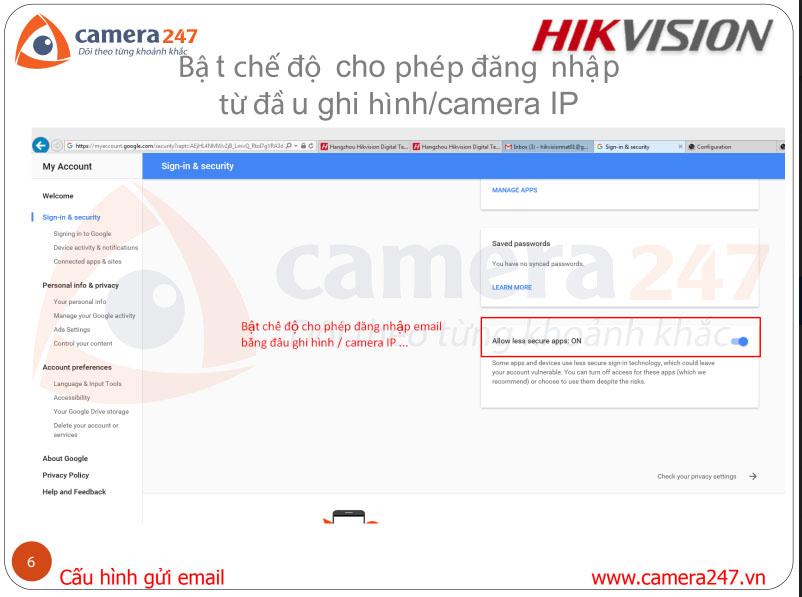 Hướng dẫn cấu hình Email cho camera IP/đầu ghi Hikvision