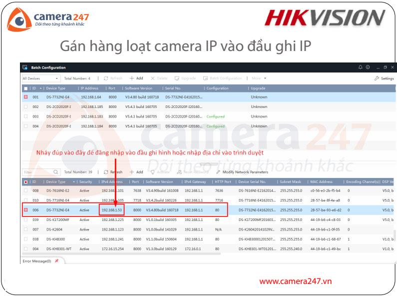 Hướng dẫn gán hàng loạt camera IP vào đầu ghi NVR