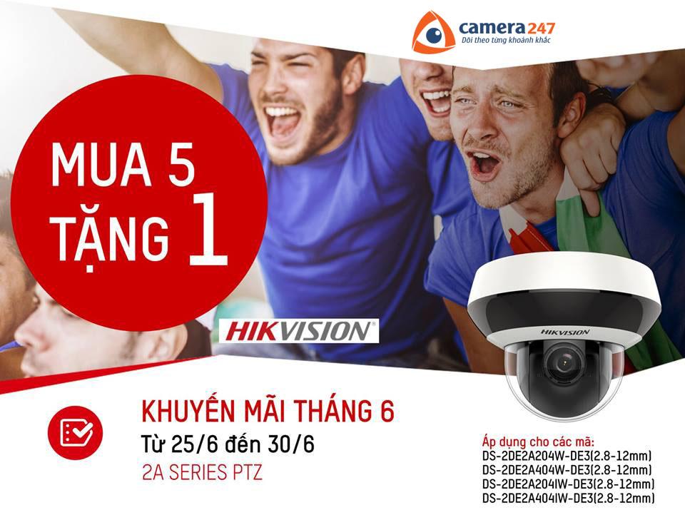 Khuyến mãi tháng 6 Hikvision - Mua 5 tặng 1