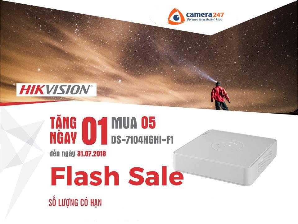 Flash Sale Hikvision tháng 7 - Mua 5 tặng 1