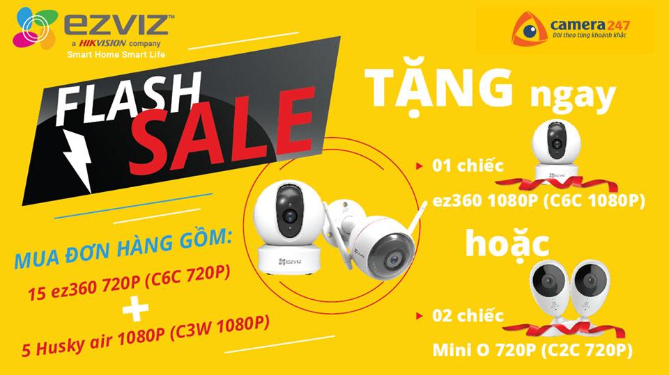Flash Sale - EZVIZ đồng hành cùng năm học mới