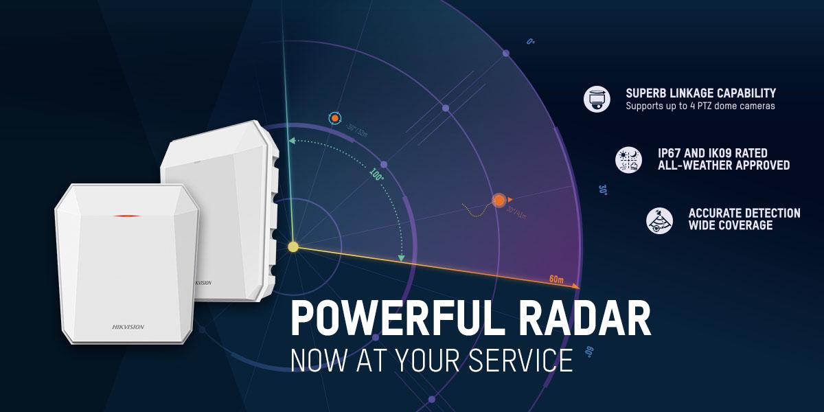 Hikvision ra mắt Radar bảo mật thông minh