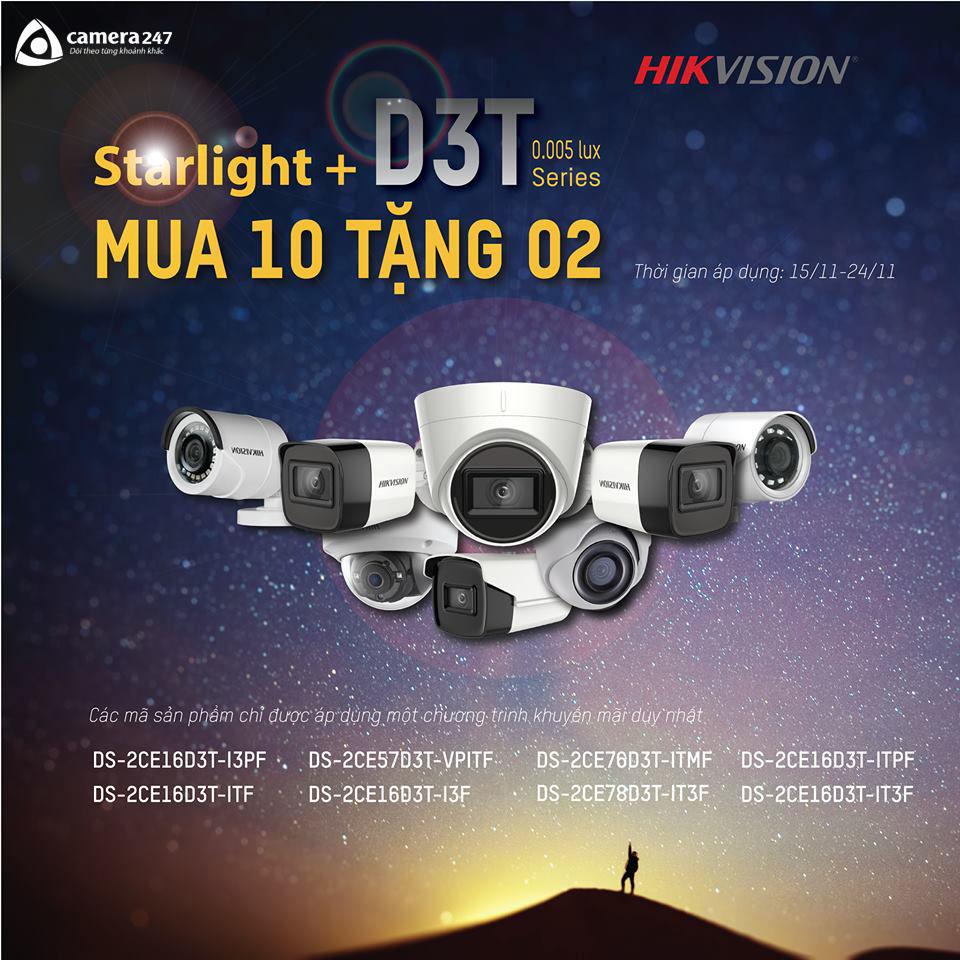 Khuyến mãi camera Starlight - MUA 10 TẶNG 2