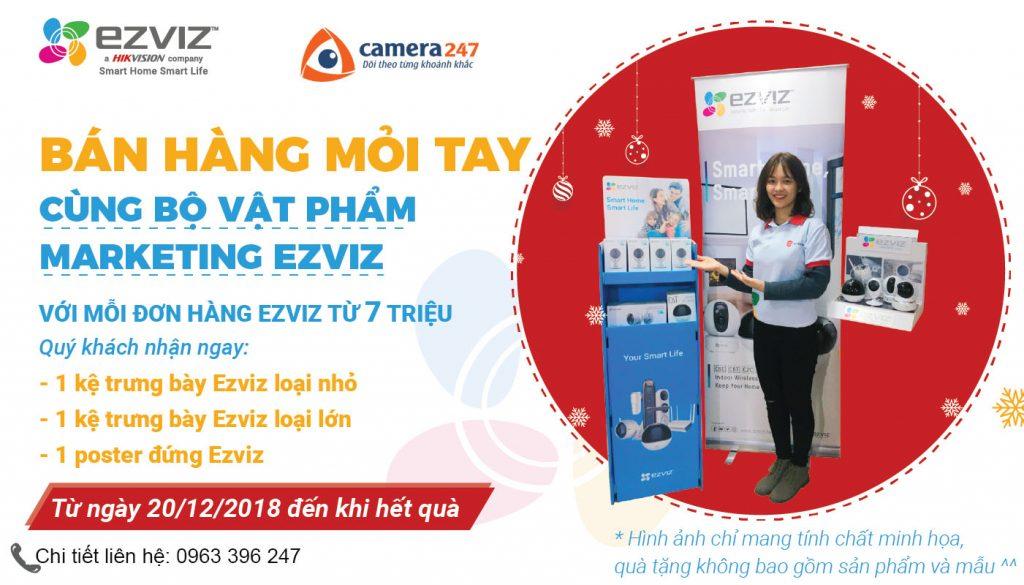 Bán hàng mỏi tay cùng vật phẩm Marketing EZVIZ