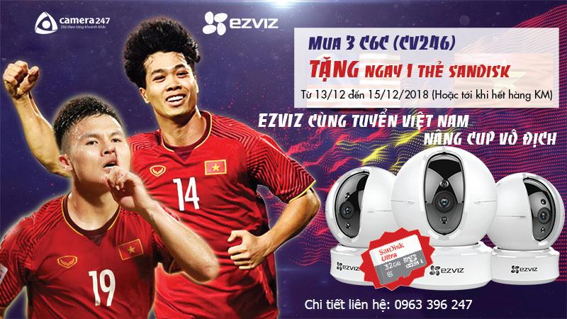 EZVIZ đồng hành cùng đội tuyển Việt Nam