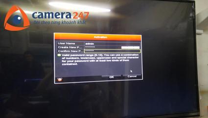 Hướng dẫn đặt mật khẩu đầu ghi hình Hikvision camera quan sát