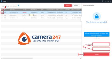 Hướng dẫn đặt mật khẩu đầu ghi hình Hikvision camera quan sát2