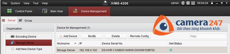 Thêm máy chủ lưu trữ cho việc ghi hình trên Storage Server 5