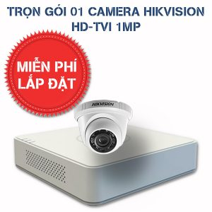 Lắp đặt trọn gói 01 camera quan sát HIKVISION HD-TVI HD