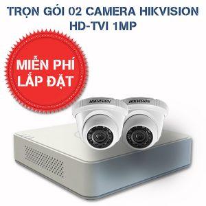 Lắp đặt trọn gói 02 camera quan sát HIKVISION HD-TVI HD