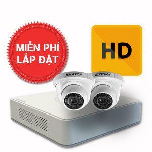 Lắp đặt trọn gói 02 camera quan sát có dây Hikvision chuẩn HD