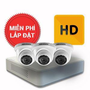 Lắp đặt trọn gói 01 camera quan sát có dây Hikvision chuẩn HD