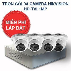 Lắp đặt trọn gói 04 camera quan sát HIKVISION HD-TVI HD