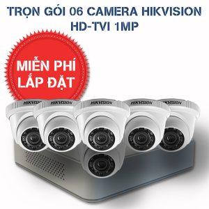 Lắp đặt trọn gói 06 camera quan sát HIKVISION HD-TVI HD
