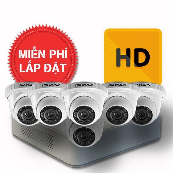 Lắp đặt trọn gói 06 camera quan sát có dây Hikvision chuẩn HD