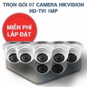 Lắp đặt trọn gói 07 camera quan sát HIKVISION HD-TVI HD