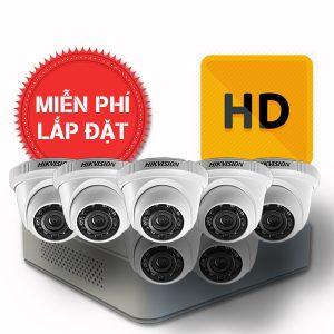 Lắp đặt trọn gói 07 camera quan sát có dây Hikvision chuẩn HD