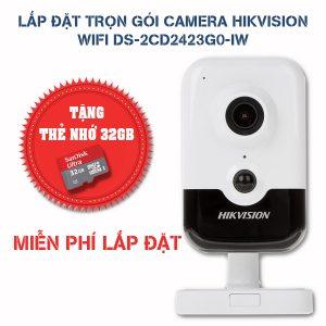 Lắp đặt trọn gói camera Hikvision wifi DS-2CD2423G0-IW