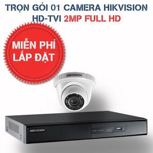 Lắp đặt trọn gói 01 camera quan sát Hikvision HD-TVI 2MP