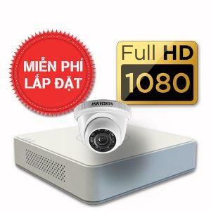 Lắp đặt trọn gói 01 camera quan sát có dây Hikvision full HD