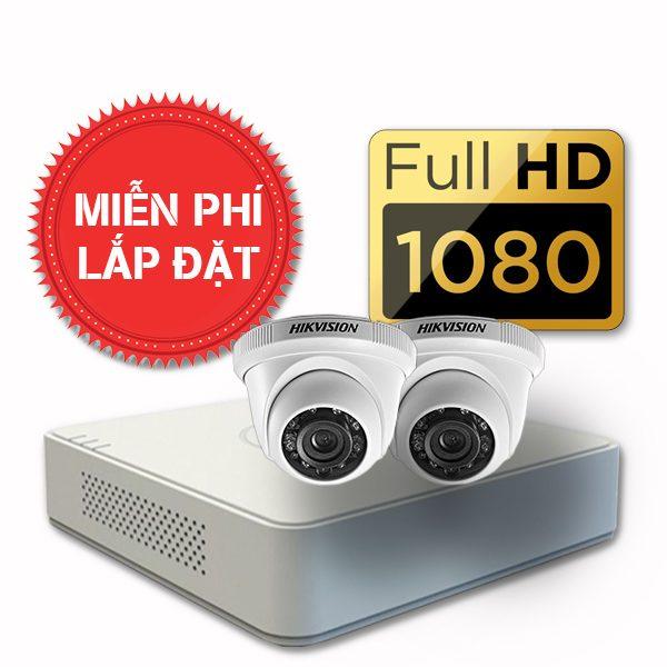 Lắp đặt trọn gói 02 camera quan sát có dây Hikvision full HD