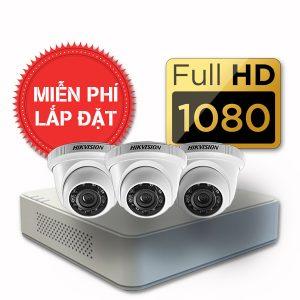 Lắp đặt trọn gói 03 camera quan sát có dây Hikvision full HD