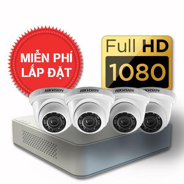 Lắp đặt trọn gói 04 camera quan sát có dây Hikvision full HD