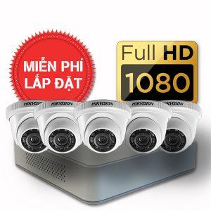 Lắp đặt trọn gói 05 camera quan sát có dây Hikvision full HD