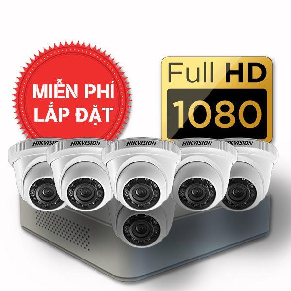 Lắp đặt trọn gói 06 camera quan sát có dây Hikvision full HD
