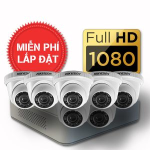 Lắp đặt trọn gói 07 camera quan sát có dây Hikvision full HD