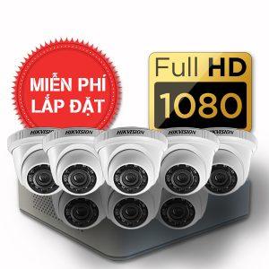 Lắp đặt trọn gói 08 camera quan sát có dây Hikvision full HD