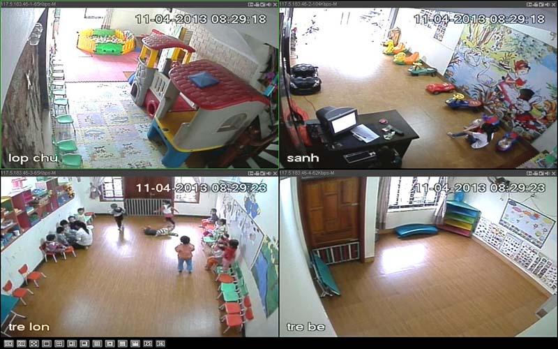 Lắp đặt camera cho trường mầm non