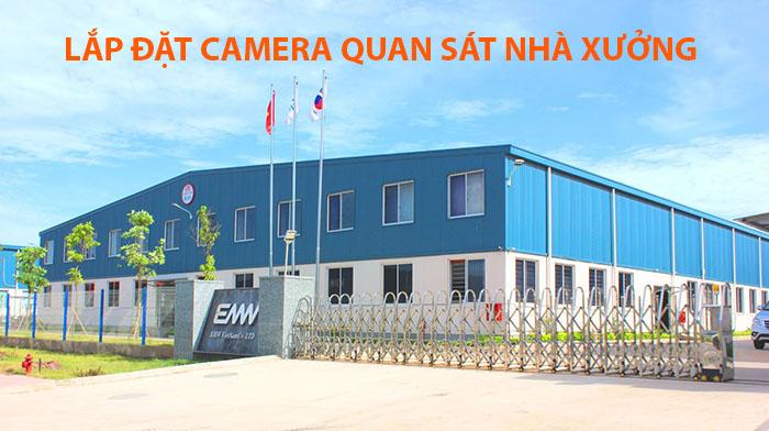 Lắp đặt camera quan sát nhà xưởng 2