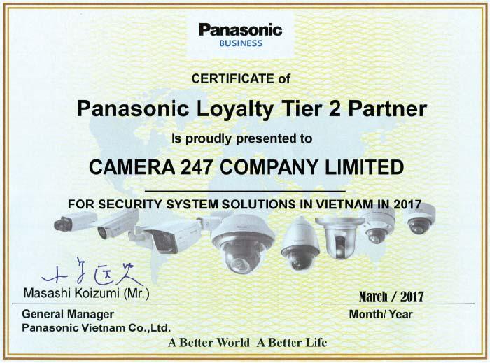 Phân phối camera Panasonic toàn quốc