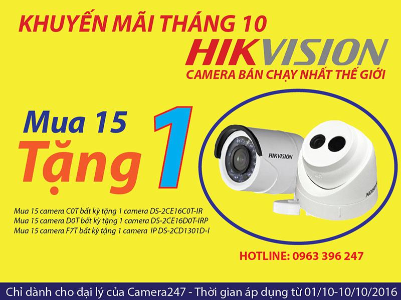 Khuyến mại camera Hikvision tháng 10 - 2016