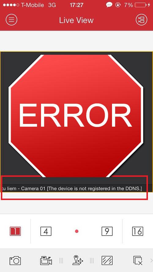 Các lỗi khi bật cảnh báo báo động trong iVMS4500