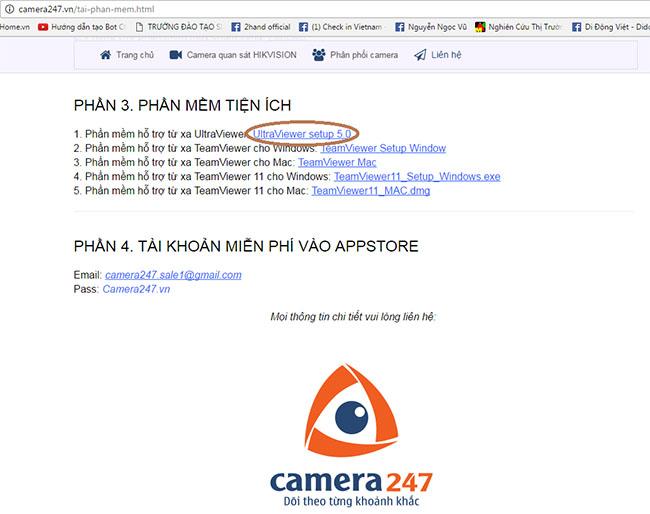 Hướng dẫn cài đặt phần mềm hỗ trợ từ xa online Ultra viewer 1