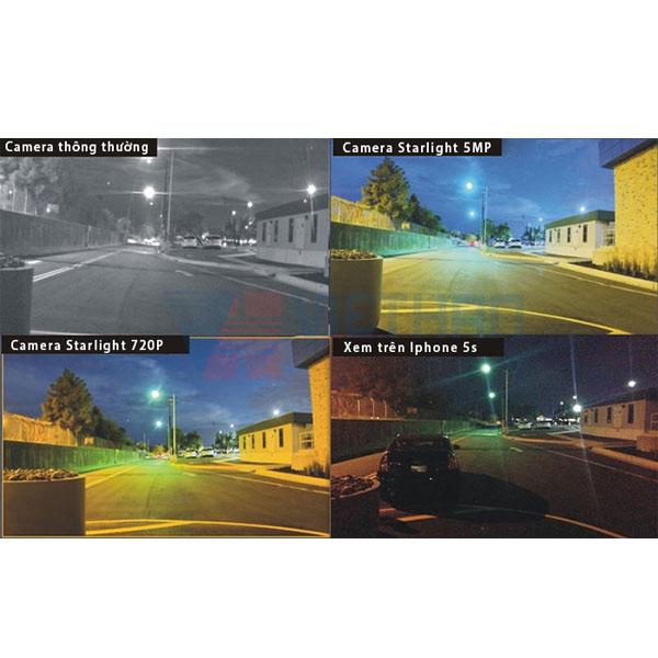 Camera không hồng ngoại, nhìn đêm, có màu