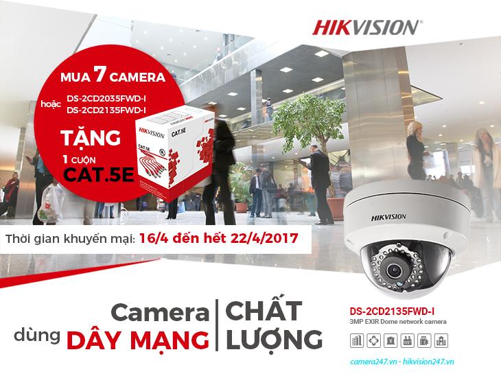 Khuyến mãi camera hikvision tháng 04/2017