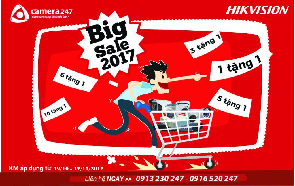 khuyến mãi big sale cùng Hikvision